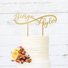 Load image into Gallery viewer, Custom Infinity Cake Topper
