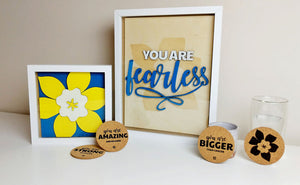 BC Cancer Society Frames & Coasters