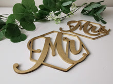 Load image into Gallery viewer, Mr & Mrs Chair Signs