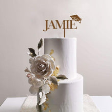 Load image into Gallery viewer, Grad Name Cake Topper