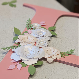 Letter with Paper Flowers