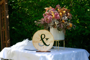 Signing Table Signage & Cake Topper Combo