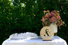 Load image into Gallery viewer, Signing Table Signage & Cake Topper Combo