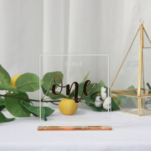 Acrylic Table Numbers