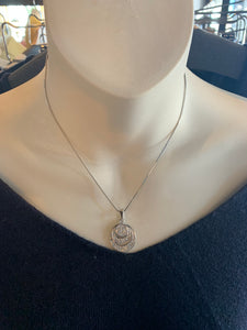 Silver Three Circle Necklace