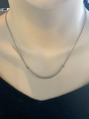 Dainty Silver Crescent Necklace