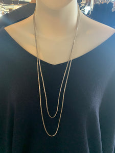 Silver Double Looped Necklace