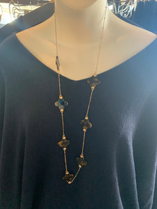 Gold Long Tortoise Necklace