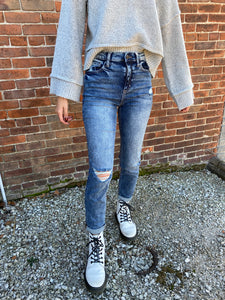 Vintage Wash High Waisted Jeans