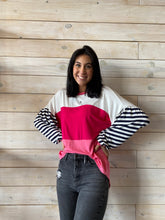 Load image into Gallery viewer, Pink Striped Top