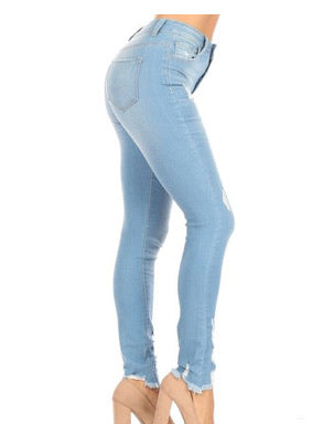 Light Wash Encore Jeans With Rips