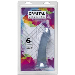 Crystal Jellies - 6.5 Inch Slim Dong - Clear