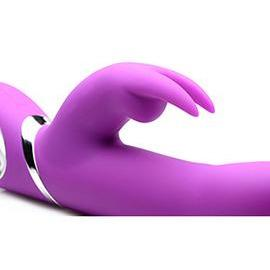 Power Bunnies Twirly Silicone Spinning Rabbit - Vibrator - Purple