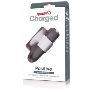 Charged Positive Rechargeable Vibe - Grey