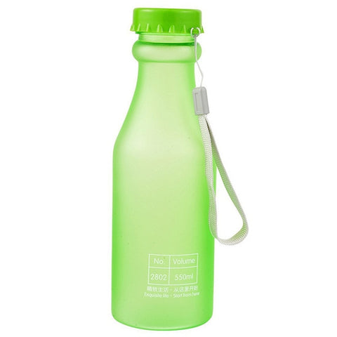 Unbreakable Frosted Leak-proof Candy Color Portable Water Bottle