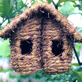 Outdoors Natural Grass Woven Hanging Bird House