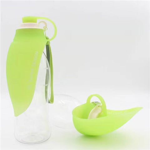 Outdoor Travel Water Bottle W/Dispenser Drinking Cup