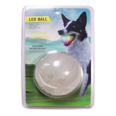 Glowing LED Rubber Bal. Dog Toy
