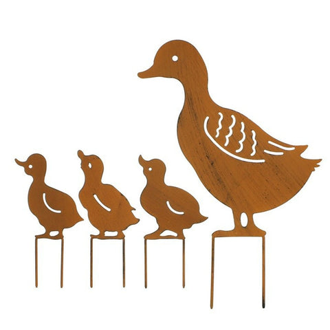 4Pcs Ducks Garden Decoration