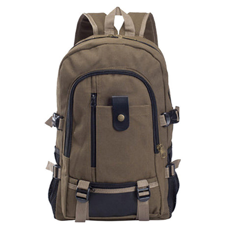 Multi functional Travel Bucket Canvas Backpack