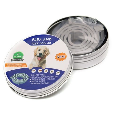 8 Months Adjustable Pet Anti Mosquitoes Flea And Tick Collar