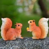 Cute Lifelike Micro Squirrels Miniature Landscape Decoration