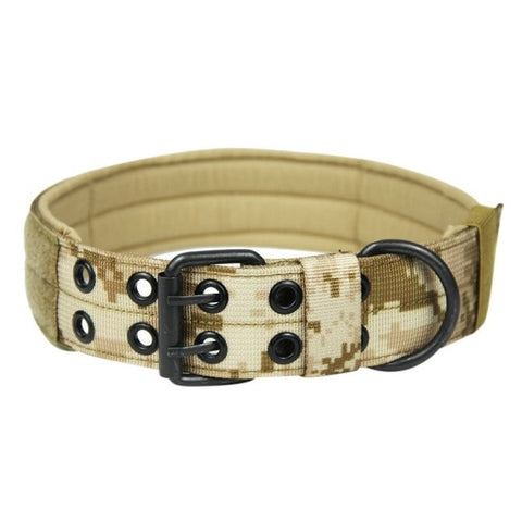 Military Tactical Dog Collar With 2 Rows Buckle