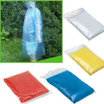 10x Disposable Adult Emergency Waterproof Rain Coat