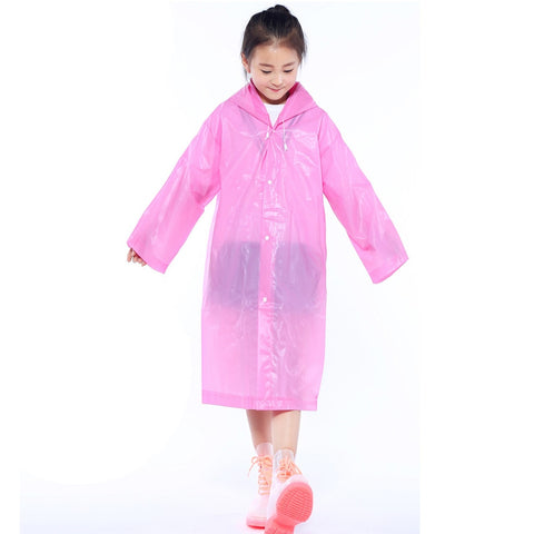 1pc Children 6-12 Years Old Reusable Raincoat