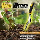 Carbon Steel Wood Handle Forked Head Hand Weeder Puller