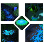 500pcs White Glow in the Dark Garden Pebbles Stones
