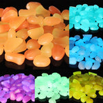 30 Pcs Glow in the Dark Garden Pebbles Rocks