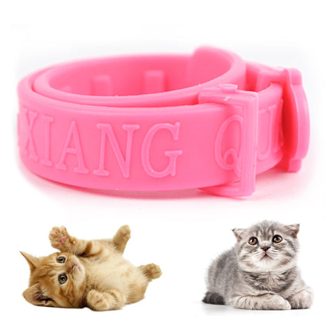 Adjustable 3pcs Pink Pet Anti Flea Mite Acari Tick Collar