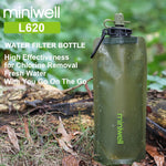 Portable Emergency Water Filter Bottle