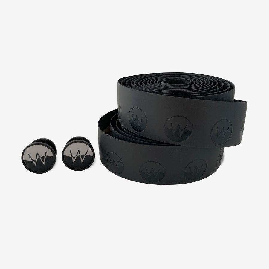 Coefficient Cycling Bar Tape in black with bar plugs