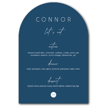 Load image into Gallery viewer, The Connor - Arch Wedding Menu