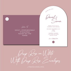 The Sienna - Arch Wedding Invitation