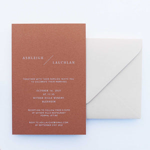 The Lauchlan - Wedding Invitation