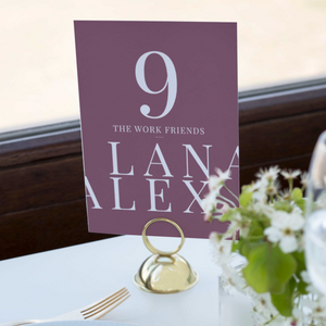The Alex - Table Numbers