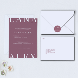 The Alex - Wedding Invitation