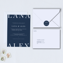 Load image into Gallery viewer, The Alex - Wedding Invitation