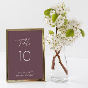 The Kate - Table Numbers