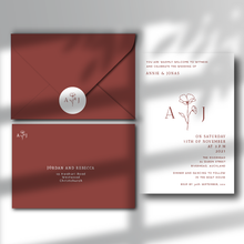 Load image into Gallery viewer, The Poppy - Wedding Invitation