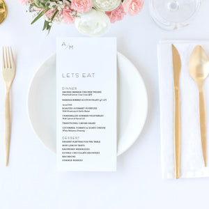 The Alley - Wedding Menu