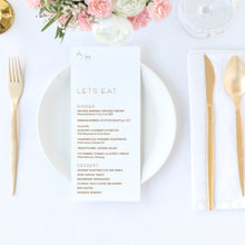 Load image into Gallery viewer, The Alley - Wedding Menu