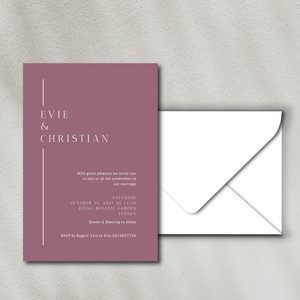 The Evie - Wedding Invitation