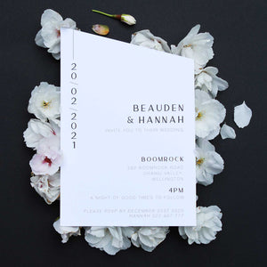 15° South - Angled Wedding Invitations