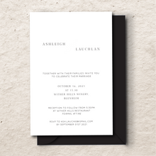Load image into Gallery viewer, The Lauchlan - Wedding Invitation