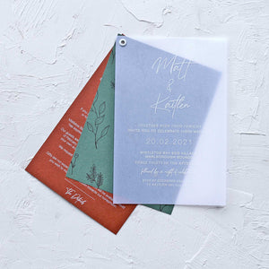 The Kaitlen - Three Layered Wedding Invitation