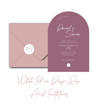 Load image into Gallery viewer, The Sienna - Arch Wedding Invitation